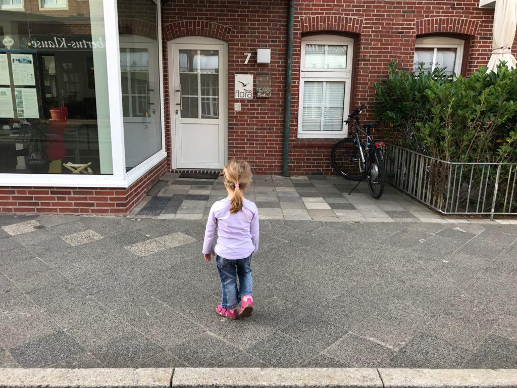 Urlaub auf Juist mit Kindern - unsere Unterkunft Haus Flora