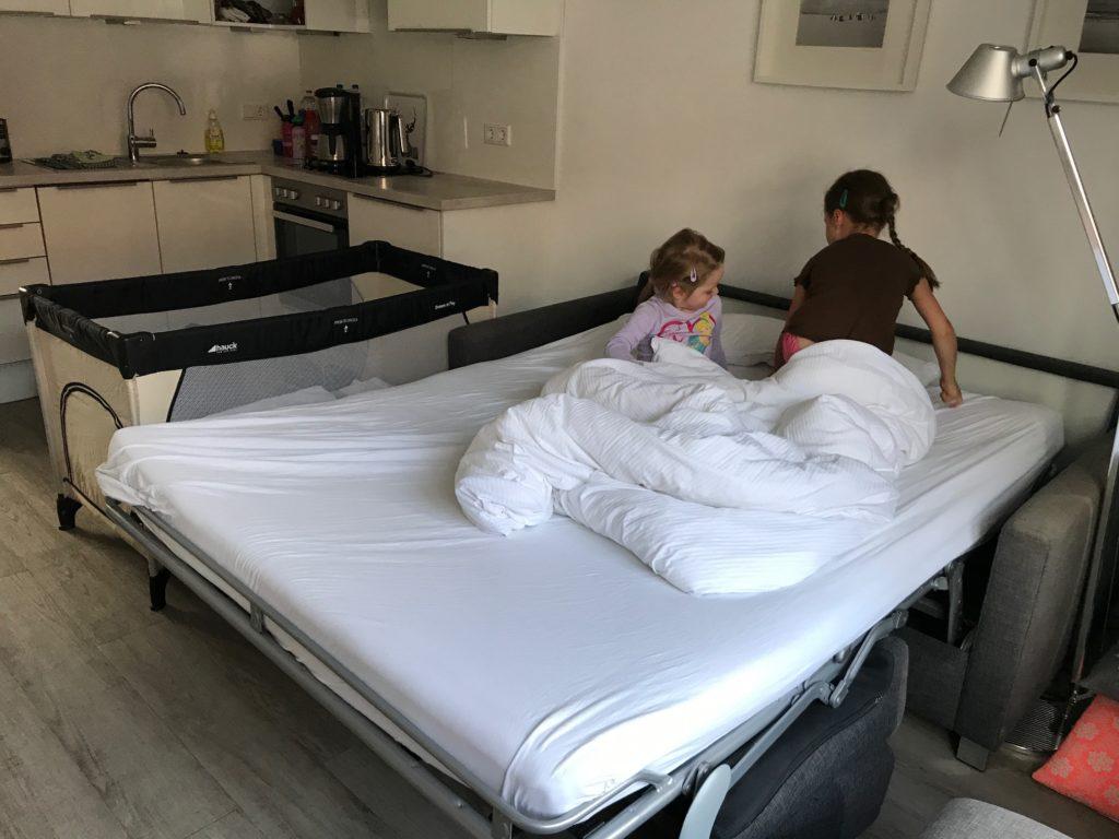 Urlaub auf Juist mit Kindern - der Schlafplatz für die Kinder in unserer Unterkunft Haus Flora