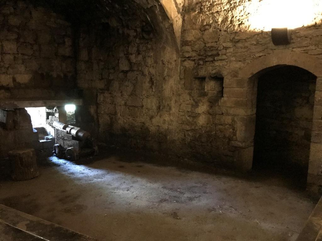 Eine Kanone in den Kasematten