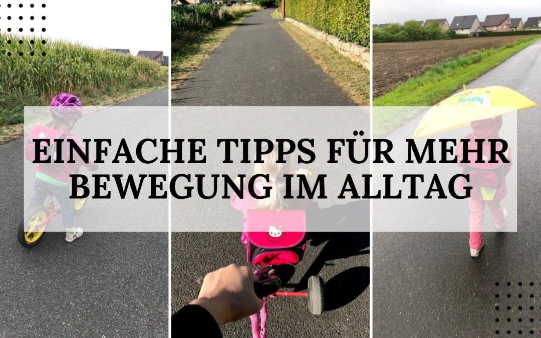 Einfache Tipps für mehr Bewegung im Alltag