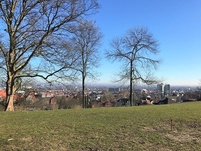 Ausblick von der Promenade an der Sparrenburg Bielefeld