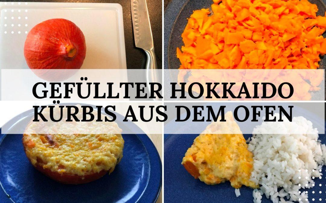 Herbst-Rezept: gefüllter Hokkaido Kürbis aus dem Ofen (vegetarisch)