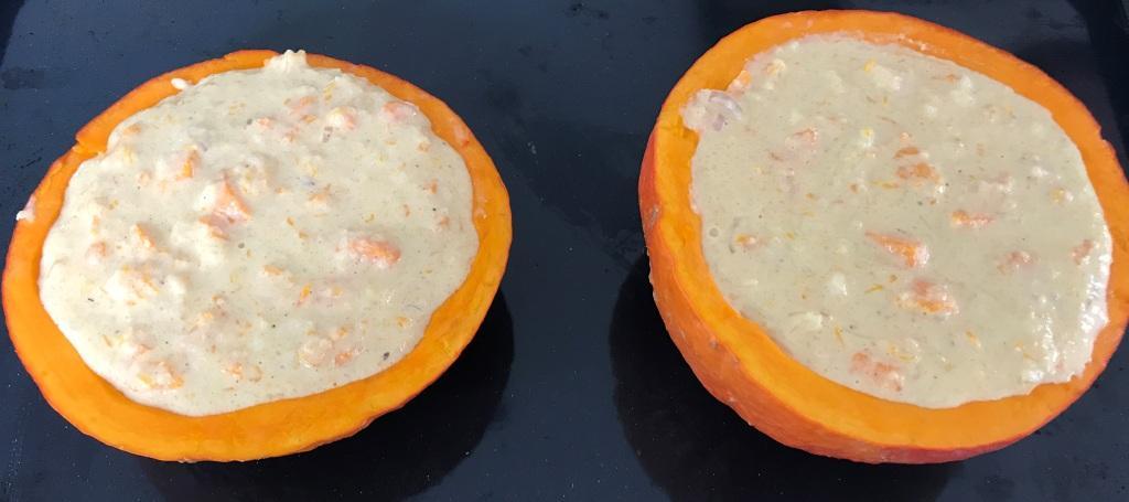 Rezept Hokkaido Kürbis gefüllt aus dem Ofen