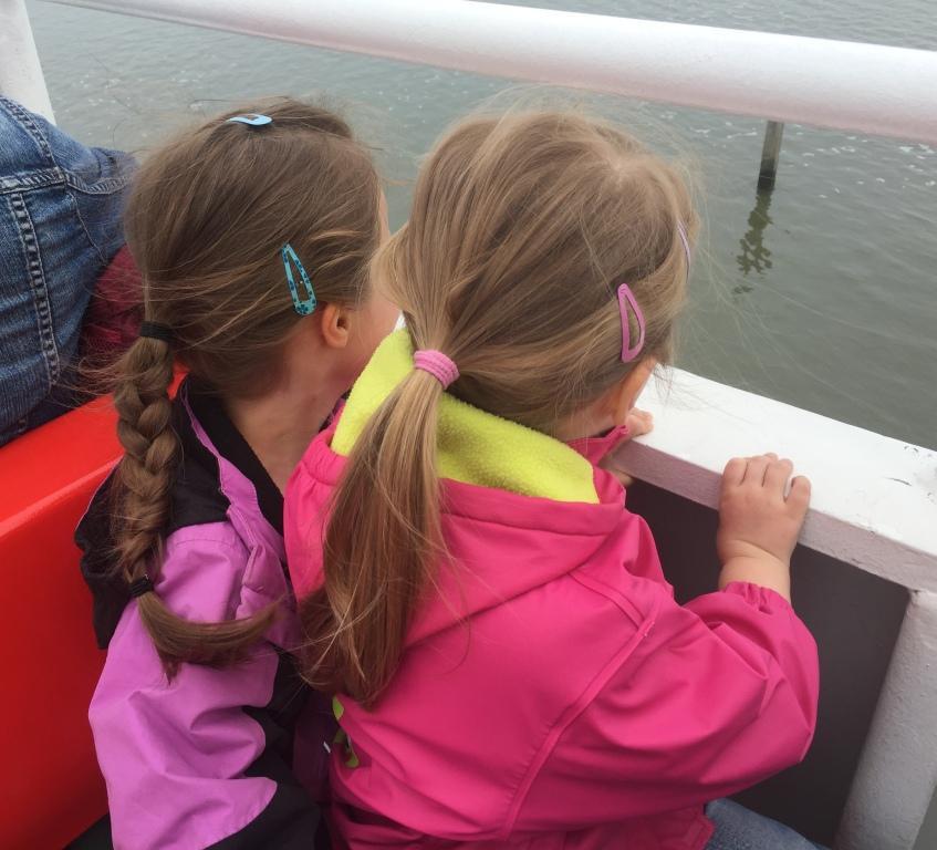 Urlaub auf Juist mit Kindern - Fahrt mit der Fähre