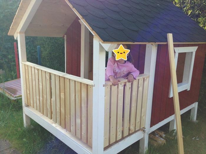 DIY-Projekt: Garten-Spielhaus für Kinder selber bauen - Haus fertig gebaut