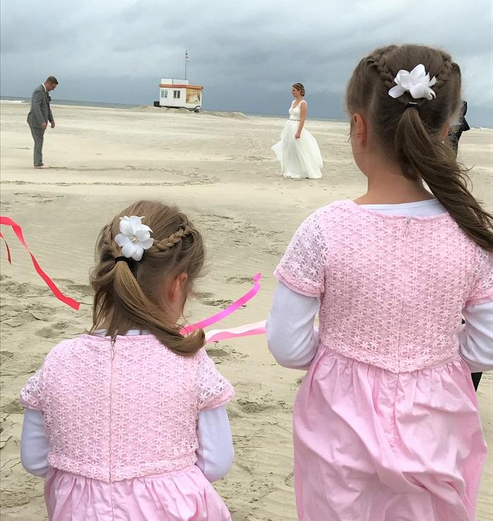Urlaub auf Juist mit Kindern - Hochzeit am Strand