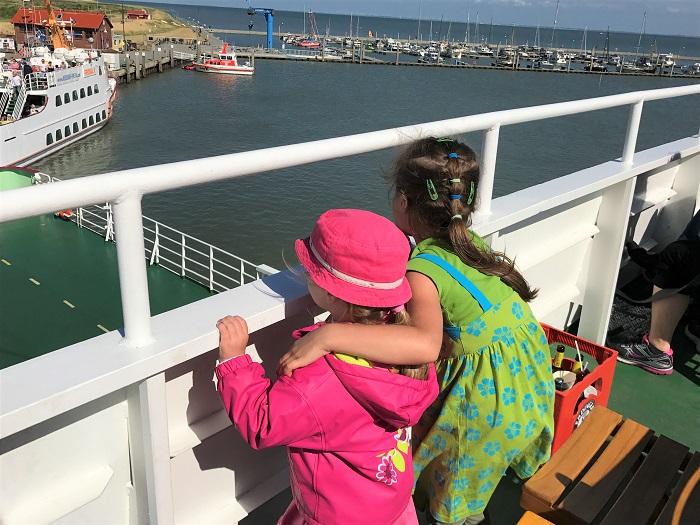 Urlaub auf Juist mit Kindern - Heimfahrt mit der Fähre