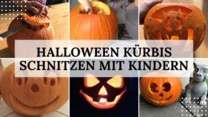 Halloween Kürbis schnitzen mit Kindern - Titelbild