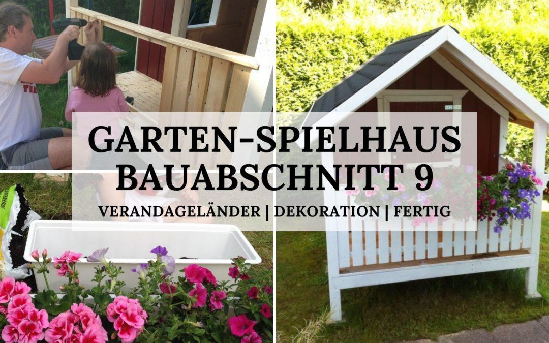 DIY-Projekt: Garten-Spielhaus für Kinder – Bauabschnitt 9