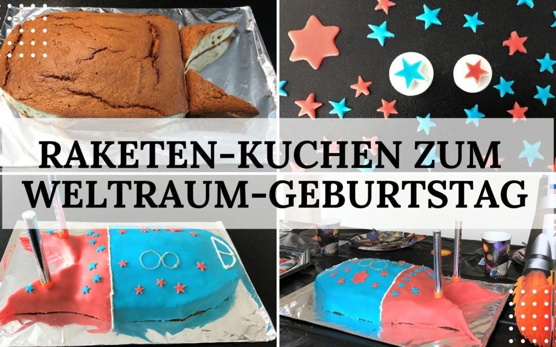 Raketen-Kuchen zum Weltraum-Kindergeburtstag