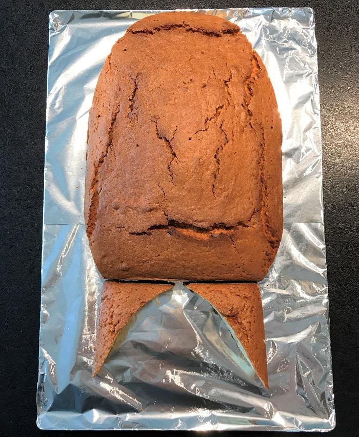 Rezept Raketenkuchen zum Kindergeburtstag Teile zurechtlegen