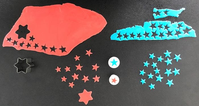 Rezept Raketen-Kuchen zum Kindergeburtstag Dekoration ausstechen
