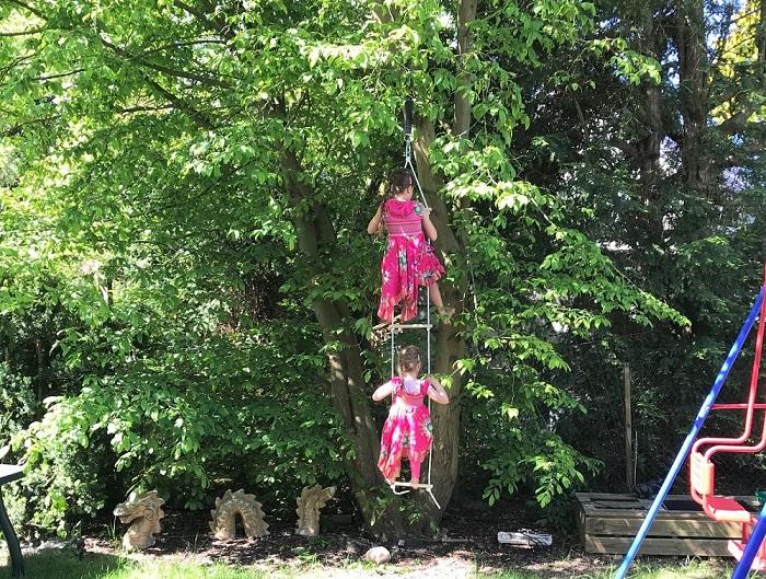 Strickleiter Kletterspielzeug für den Garten