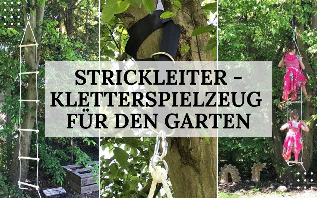 Strickleiter als Kletterspielzeug für den Garten