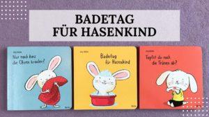 """Buch-Rezension - Lesen mit Kindern: """"Badetag für Hasenkind"""" von Jörg Mühle aus dem Moritz Verlag - Titelbild"""
