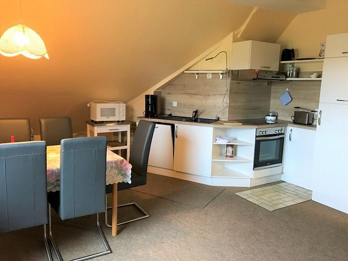 Nordsee mit Kindern - Urlaub in Friedrichskoog:  Unterkunft Küche