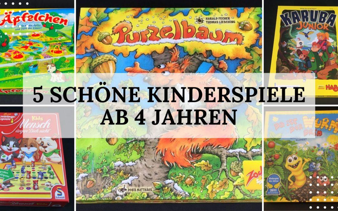 Spieletipp: 5 schöne Kinderspiele ab 4 Jahren