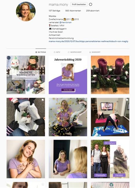 Instagram Profil Dezember 2020