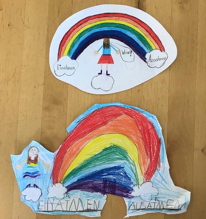 Mein Jahresrückblick 2020 - Corona mit Kindern - Kinderzeichnung Regenbogenatmung