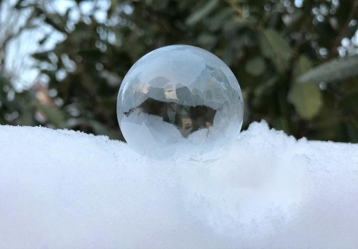 30am30 - 30 schöne Momente im Februar 2021 - Seifenblasen einfrieren