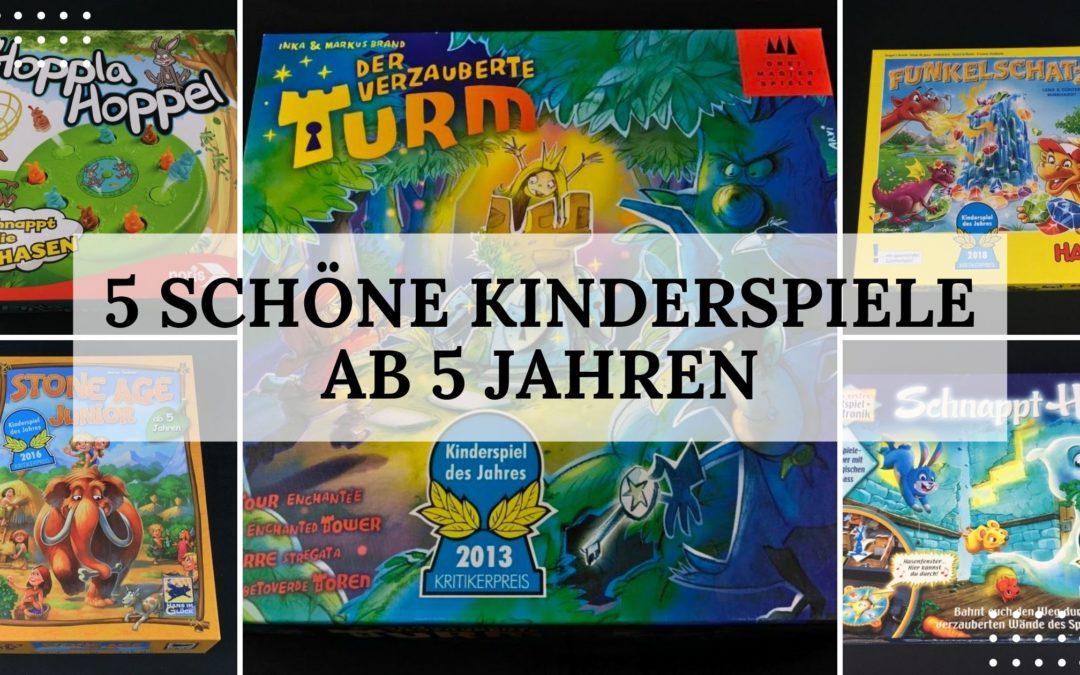 Spieletipp: 5 schöne Kinderspiele ab 5 Jahren