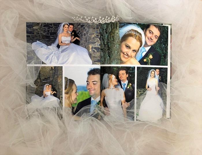 Mein Hochzeits-Fotobuch aufgeklappt