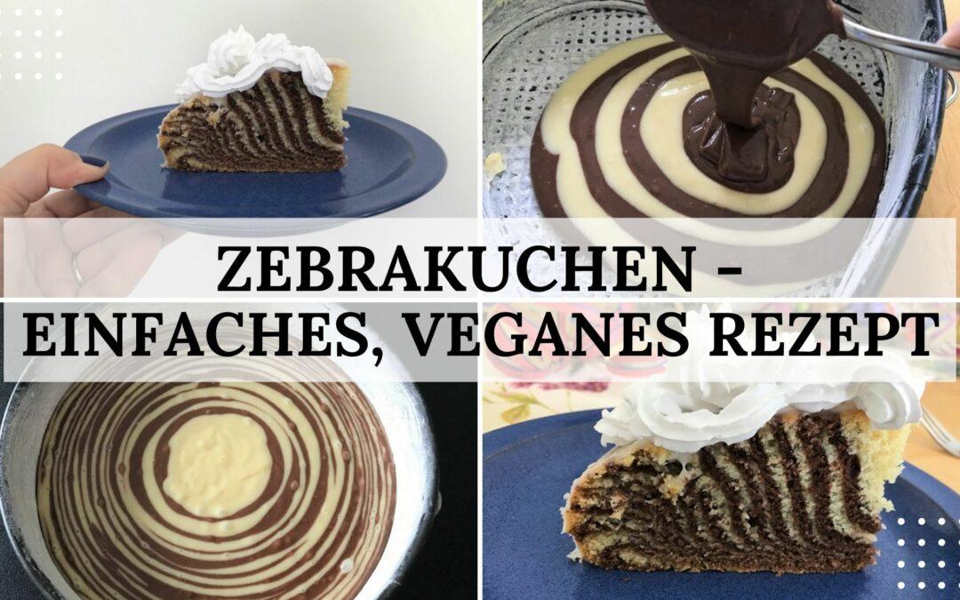 Zebrakuchen – ein einfaches, veganes Rezept