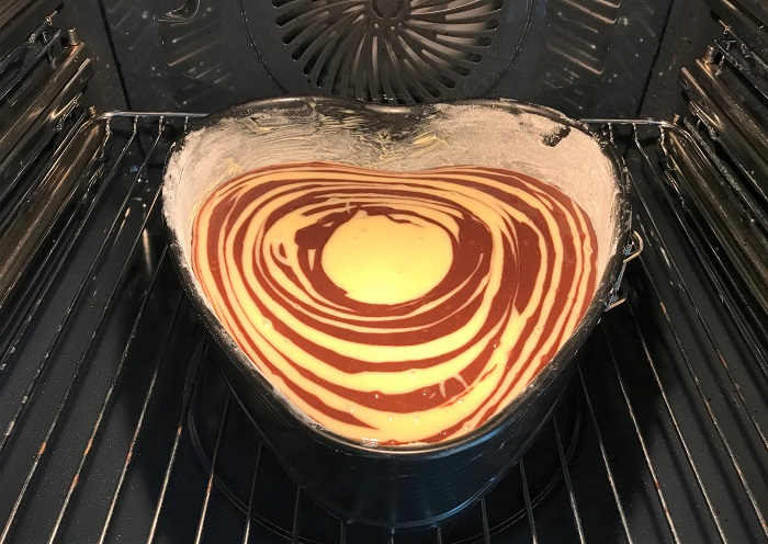 Rezepttipp: Zebrakuchen vegan - Zebrakuchen im Ofen