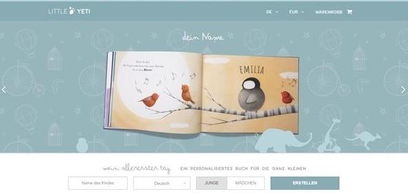 Buchtipp: Mein allererster Tag von Little Yeti - Screenshot Startseite
